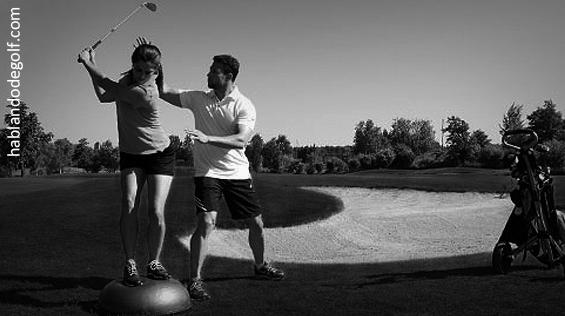 entrenamiento golf
