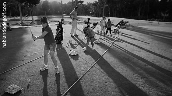 golf y niños