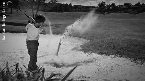 niños y golf